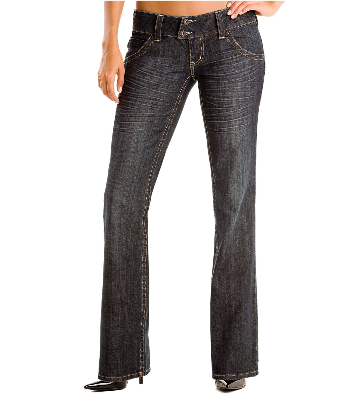 G by GUESS Claudia Whiskey Bootcut Jeans BLUE 24