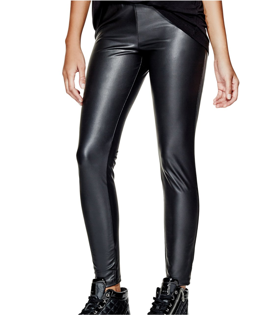 G by GUESS Matte Liquid Leggings, JET BLACK (XS)