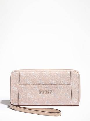 Perfect for the on-the-go GUESS girl, this zip-around clutch makes a great gift for yourself or any fellow fashion lover. Equipped with 8 credit card slots and 3 bill pockets, it helps you stay organized while still looking stylish.