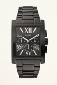 Black Ionic-Plated Classic Dress Watch