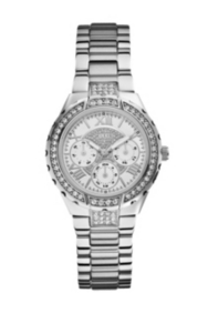 Silver-Tone Sparkling Watch