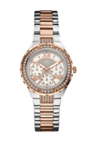 Rose Gold-Tone and Silver-Tone Sparkling Watch