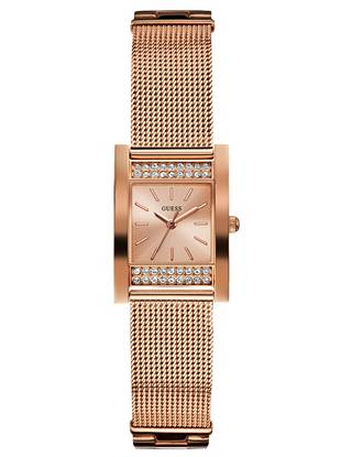 Perfect for days when you're looking for just an added dose of shine, this sparkling watch defines subtle luxury. Wear it from   dawn to dusk for a sleek signature look. •	Analog function •	Watch dimensions in mm: 23/25/9.5 •	Polished rose gold-tone case with crystal embellishment •	Rose gold-tone dial •	Adjustable rose gold-tone steel mesh bracelet •	Water resistant •	10 Year Limited Warranty