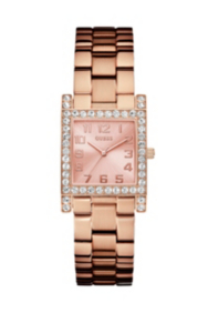 Rose Gold-Tone Crystal Watch