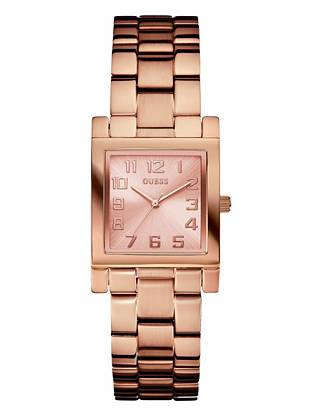 With a classic slim profile and high-polish finish, this is one timepiece you'll treasure for years. Use it to add just-right finishing touches to any look. •Analog function •Watch dimensions in mm: 38.5/38.5/9.5 •Rose gold-tone case •Rose gold-tone dial •Self-adjustable brushed and polished steel bracelet •Water resistant •10 Year Limited Warranty