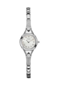 Silver-Tone Petite Crystal Watch