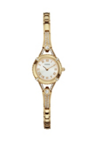 Yellow Gold-Tone Petite Crystal Watch