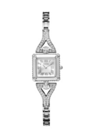 Silver-Tone Retro Glamour Watch