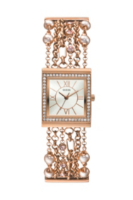 Rose Gold-Tone Embellished Bracelet Watch