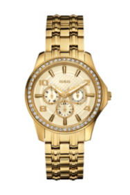 Gold-Tone Polished Glamour Watch