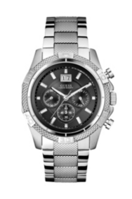 Silver-Tone Sport Chronograph Watch