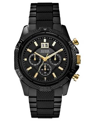 Textured details and a rugged, sport-inspired look bring wear-anywhere versatility to this sleek chronograph watch.