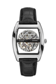 Silver-Tone Automatic Skeleton Watch