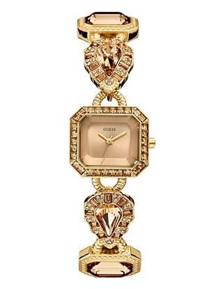 Ultra-rich jewels and an intricate design bring this petite timepiece to a whole new level. Layer it on with other arm candy or wear it solo for an undeniably chic finish day or night.