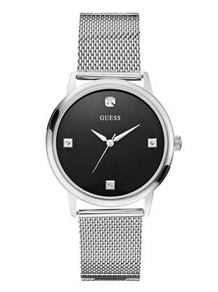An on-trend mesh bracelet and sleek genuine diamond accents make this timepiece the perfect gift for yourself or someone else. Wear it to work and out on the weekends—it takes you everywhere.