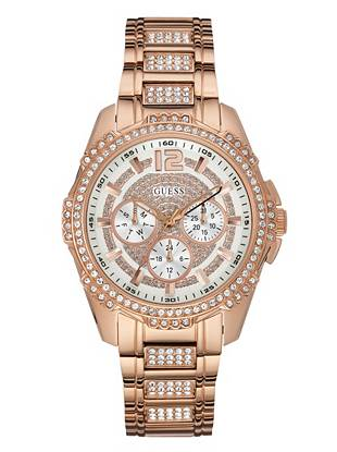 Rose Gold-Tone Glitz Active Sport Watch