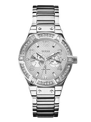 Polished glamour at its best, this stunning silver-tone watch is the perfect addition to your accessories collection. The timeless silhouette and chic details ensure you'll wear it year after year.