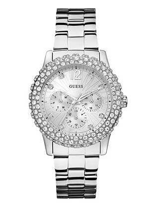 Dazzling crystals transform this classic timepiece into an instant showstopper. Pair it with both casual and dressy looks for glamorous on-time style.