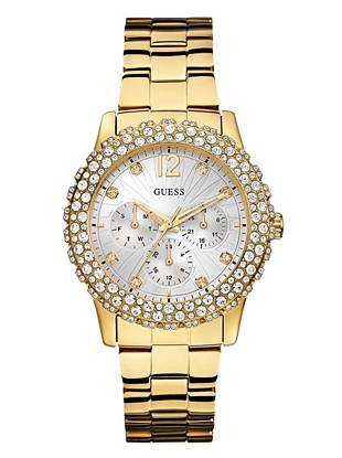 Gold-Tone Shimmering Sport Watch