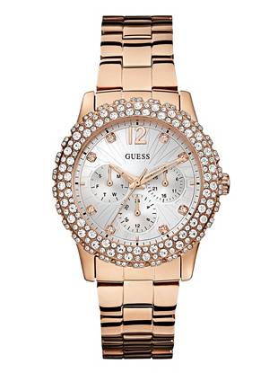 Rose Gold-Tone Shimmering Sport Watch