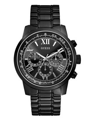 Bold black and a classic multifunctional design—this watch epitomizes modern masculinity. Pair it with both daytime and after-dark ensembles for a powerful finish.