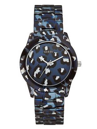 Lend your day-to-night style a pop of texture with this on-trend timepiece. A safari-inspired print and dose of glossy steel combine to give it a touch of glamour.