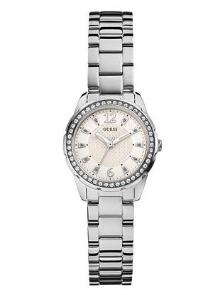 Silver-Tone Refined Feminine Sparkle Watch