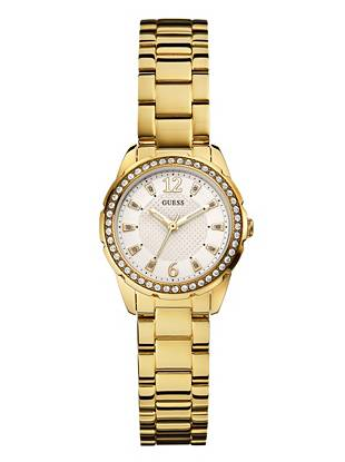 Gold-Tone Refined Feminine Sparkle Watch