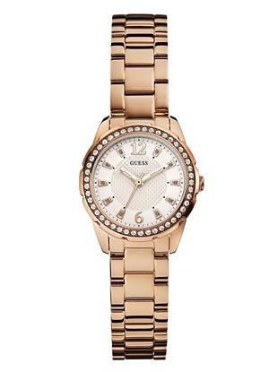 Rose Gold-Tone Refined Feminine Sparkle Watch