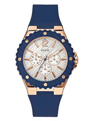 Blue and Rose Gold-Tone Feminine Sport Watch
