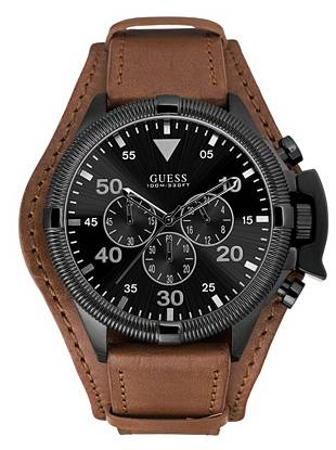 Black and Brown Bold Masculine Sport Watch