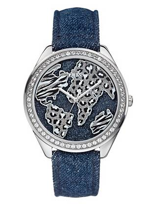 Perfect for the girl who loves to travel, this glittering map-inspired watch will have you dreaming of your next destination. Sexy animal prints and signature denim accents work together to create the ultimate statement accessory.