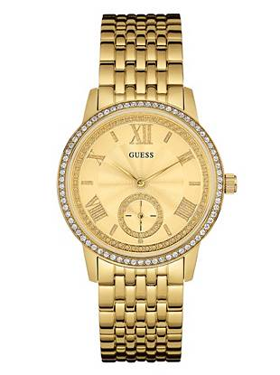 Gold-Tone Feminine Classic Dress Watch