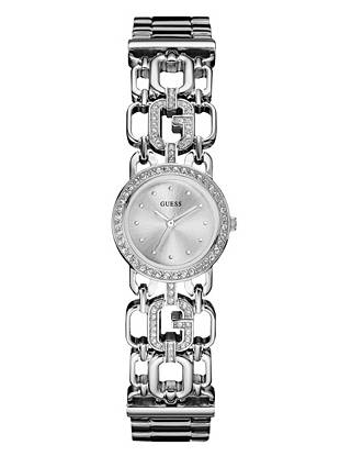 Silver-Tone Iconic Feminine Bangle Watch