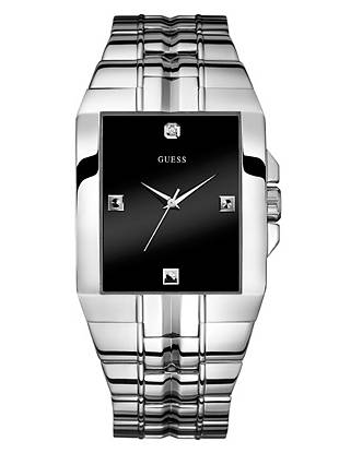 Mineral Crystal  Stainless Steel Case/Bracelet  Genuine Diamond Accent  Japanese Movement  10-year limited warranty