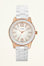 Feminine Active Watch - White with Rose Gold