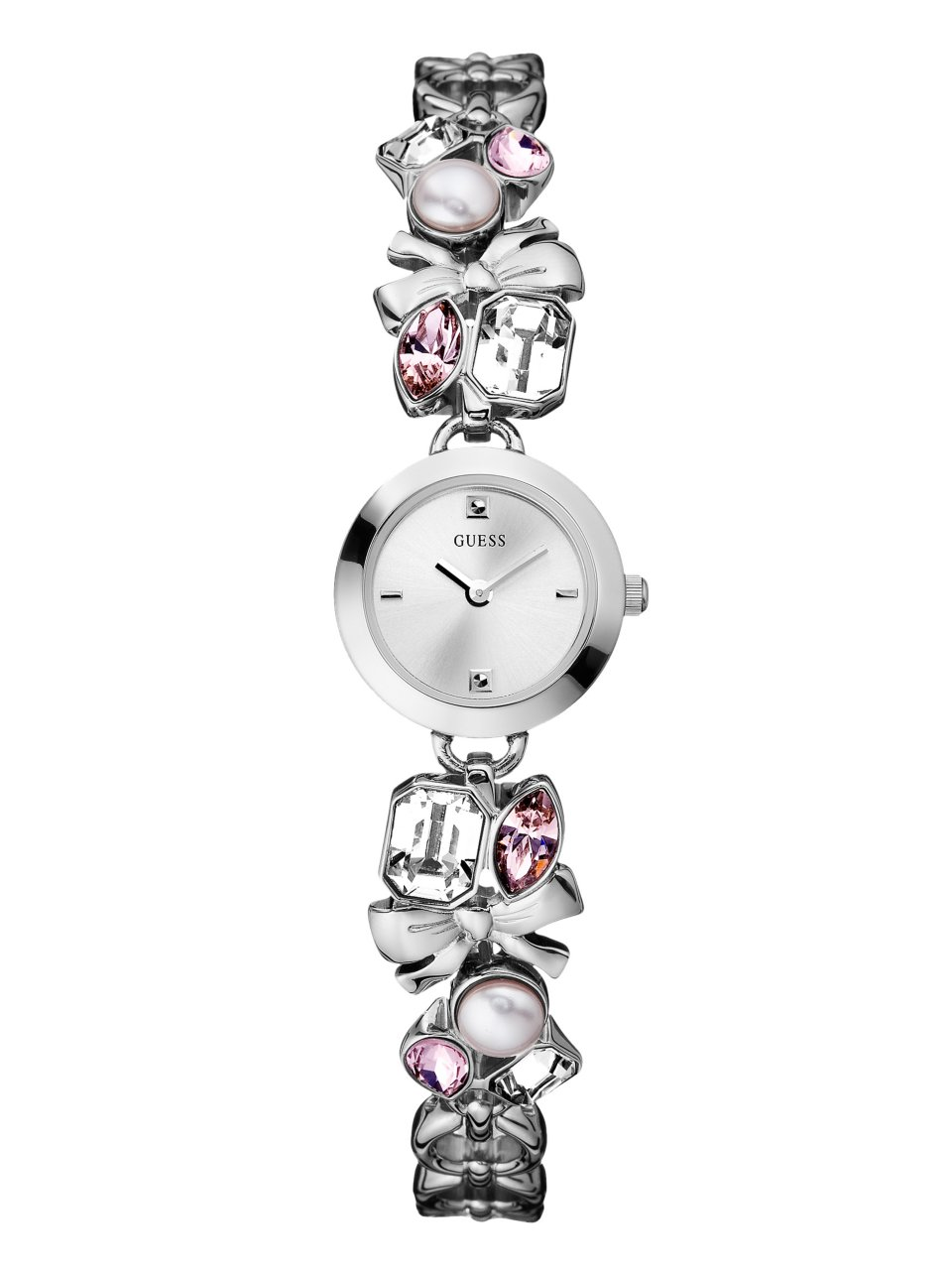 GUESS Crystallized Romance Watch - Silver