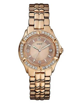 Rose Gold-Tone Dazzling Midsize Sport Watch