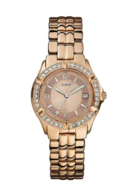 Dazzling Sporty Mid-Size Watch - Rose Gold