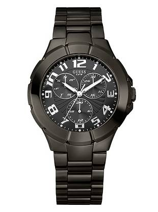 Mineral Crystal  Stainless Steel/Case Bracelet  Black-Ion Plating  Multi-Function  Japanese Movement  330 feet / 100 meters water resistant  10-year limited warranty