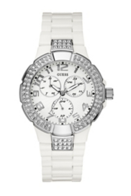 Status In-the-Round Multifunction Watch - White and Silver