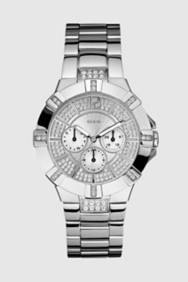 Dazzling Sport Watch - Silver-tone Steel