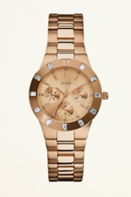 Feminine High-Shine Sport Mid-Size Watch - Rose Gold