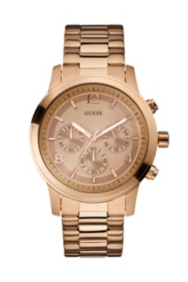 Bold Contemporary Chronograph Watch - Rose Gold