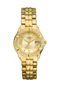 Dazzling Sporty Mid-size Watch - Gold