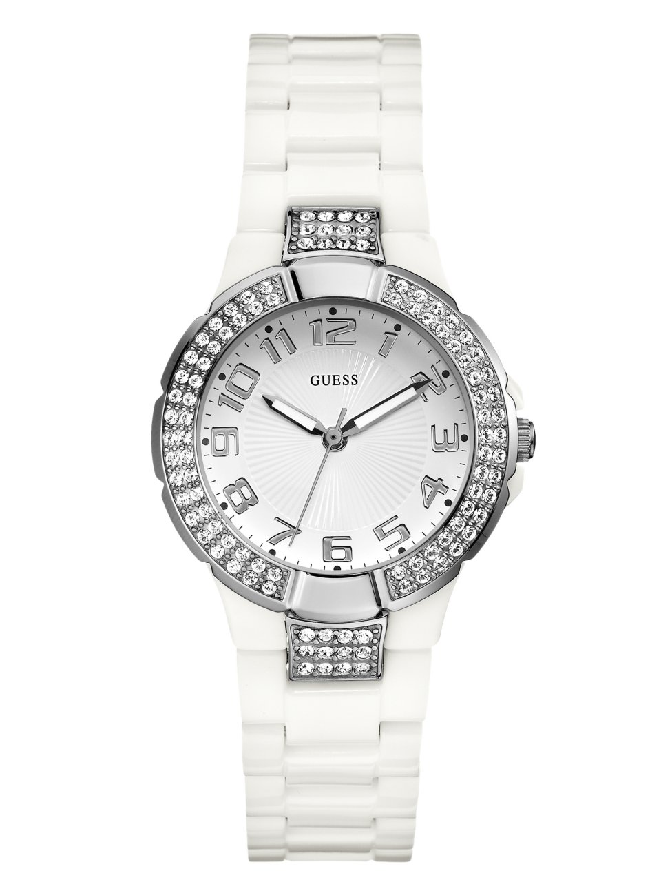GUESS Status In-the-Round Watch - White and Si
