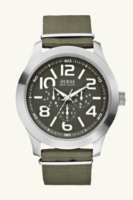 Masculine Casual Watch - Green