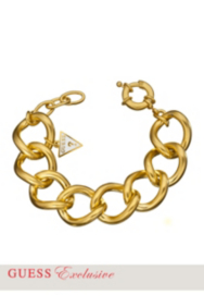 Yellow Gold-Tone Curb Chain Bracelet