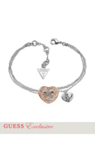 Rose Gold-Tone Pavé Crystal Heart Bracelet