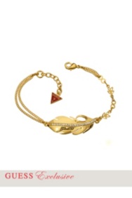 Gold-Tone Feather Bracelet